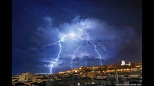 سارڈینیا میں طوفان