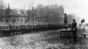 Regimiento de infantería alemán en Berlín