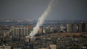 Cohete lanzado desde Gaza