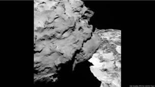 Detalle del Cometa 67P