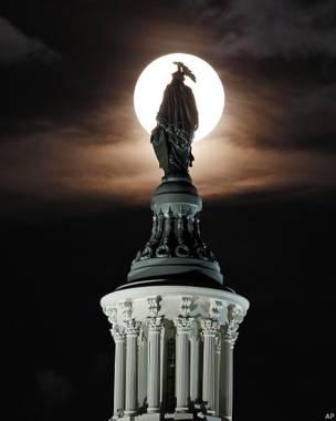 La superluna en Washington