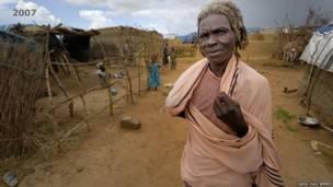 Hamisa akiwa katika kambi ya Hassa Hissa Darfur 2007