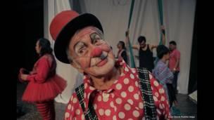 Artista circense colombiano en el III Laboratorio Nacional de Circo, Bucaramanga. Foto: Juan David Padilla