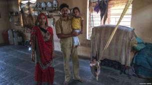 Anil, del distrito de Dhule, Maharshtra, marzo de 2014. Digvijay Singh