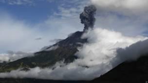 ज्वालामुखी विस्फोट, इक्वाडोर