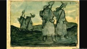 Exposição mostra desenhos inéditos da Primeira Guerra enviados em postais