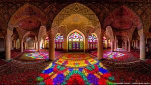 مسجد ناصر الملك، شيراز، إيران، تصوير محمد رضا دوميري كنجي
