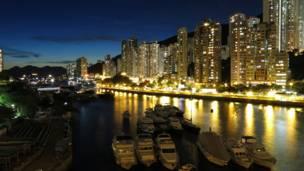 香港仔的黃昏景色