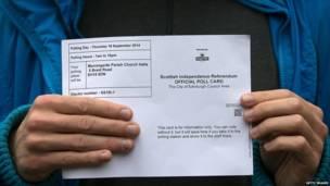 Tarjeta oficial de votación
