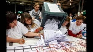 Избирательный участок в Абердине