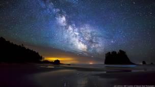 La Vía Láctea en Second Beach en Olympic Wilderness, Washington. Imagen de Joe LeFevre, cortesía de Nature's Best Photography
