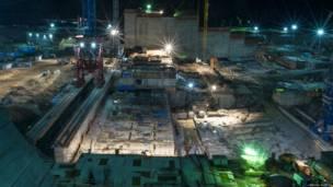 Строящаяся Нижне-Бурейская гидроэлектростанция