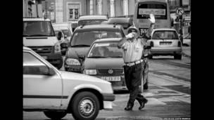 यातायात पुलिस, नृत्य, डांस, लिस्बन, कार्लोस दी कोस्टा ब्रैंको