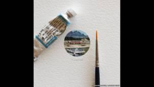 """أعمال فنية من مشروع """"365 بطاقة مصورة بأحجام صغيرة"""""""