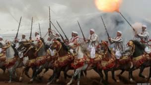 अल जदीदा में घुड़सवार सैलॉ डी चेवाल