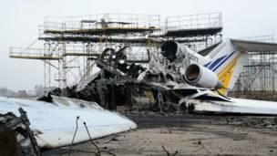 Донецкий аэропорт до и после войны