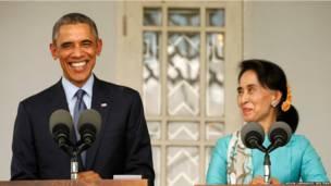 बराक ओबामा, आंग सान सू ची