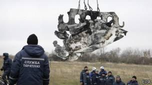 Fragmentos del vuelo MH17