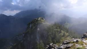 Туман в Альпах