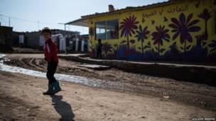 Um projeto de 'street art' na região quer dar às crianças refugiadas a oportunidade de se expressarem pela pintura.
