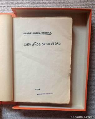 Documento del archivo de García Márquez