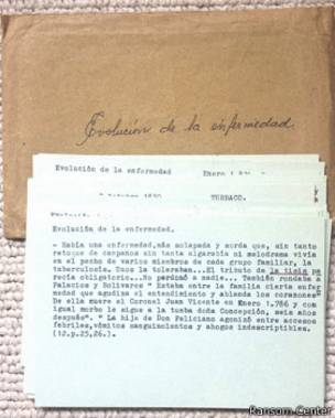 Documento del archivo de Gabriel García Márquez