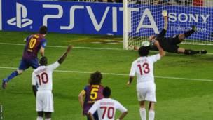 Lionel Messi, bakina na AC Milan 2012