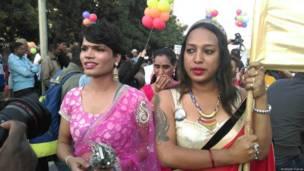 दिल्ली में समलैंगिक अधिकारों के लिए प्रदर्शन.