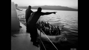 """From the series """"Syrian Refugees in Greece"""" © Enri Canaj, Greece. Photojournalism Category Finalist, LensCulture Visual Storytelling Awards 2014"""