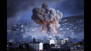 انفجار در شهر کوبانی در سوریه