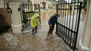 अमरीका, कैलीफ़ोर्निया, बाढ़