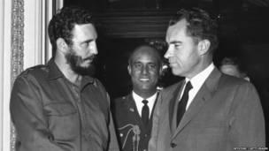 Кастро и Никсон в 1959 году.