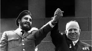 Кастро и Хрущев в Москве
