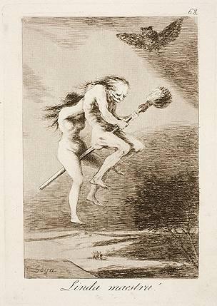Grabado No. 68 de Los Caprichos de Goya. Museo del Prado.