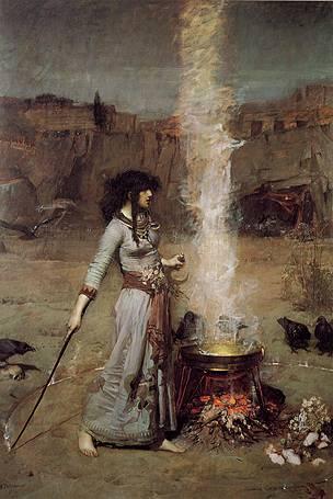 Círculo Mágico, John William Waterhouse. Tate Britain.