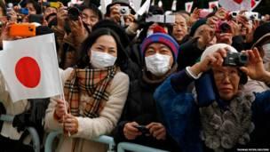 नववर्ष के मौक़े पर टोक्यो में जापान के शाही परिवार का अभिवादन