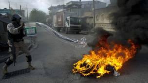 हैती के पोर्ट ओ प्रिंस में सरकार विरोधी प्रदर्शन