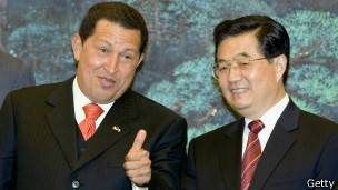 Hugo Chávez y Hu Jintao.