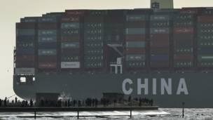 全球最大的集裝箱貨輪CSCL Globe