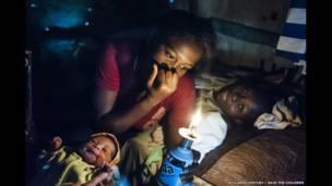 Madre e hijo en Puerto Príncipe. Riccardo Venturi.