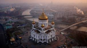 द मानुमेंट टू द कांकर्स ऑफ़ द स्पेस, मॉस्को, रूस