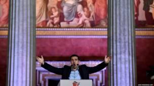 ग्रीस, सिरीज़ा पार्टी के नेता एलेक्सिस त्सीपरास