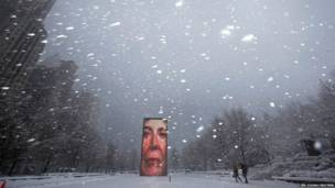 शिकागो, बर्फ़बारी
