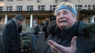 पूर्वी यूक्रेन में गोलाबारी का निशाना बना एक अस्पताल