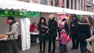 伦敦庆祝羊年春节活动