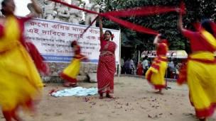 Акция протеста женщин