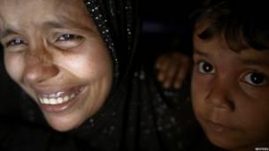पश्चिमी म्यांमार के राखिने प्रांत की राजधानी सित्तवे के पास थाई च्वांग गांव में रहने वाले रोहिंग्या मुसलमान, displaced Rohingya Muslims near Sittwe, the capital of Rakhine State in western Myanmar