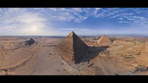 Las pirámides, Egipto. AirPano, a través de Caters News Agency.