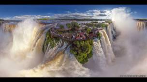 Cascada de Iguazú, Argentina. AirPano, a través de Caters News Agency.