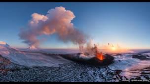 پولسکی کا آتش فشاں، روس